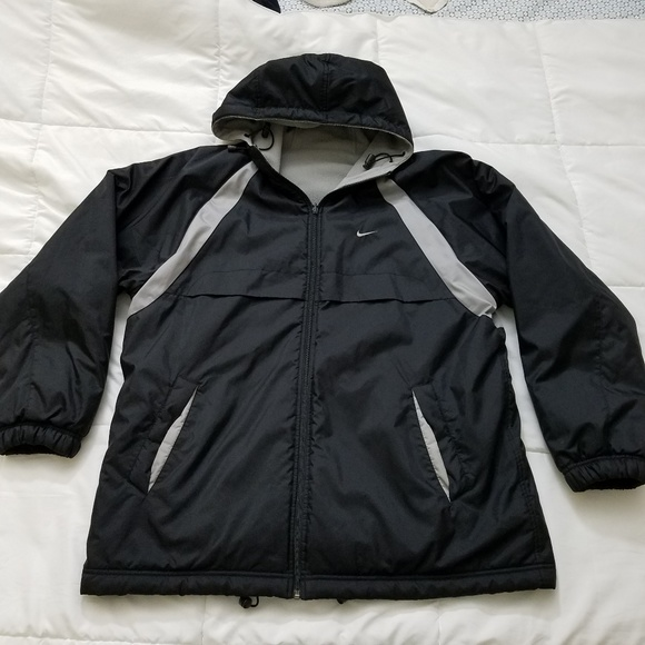 Nike Reversible Jacket Men s XL Fleece Nylon Black.  M 5a6a21b833162753ec30c635 6dd4e0307